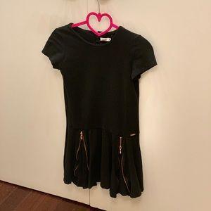 Junior Gaultier Dress Black Size 10 gold zippers